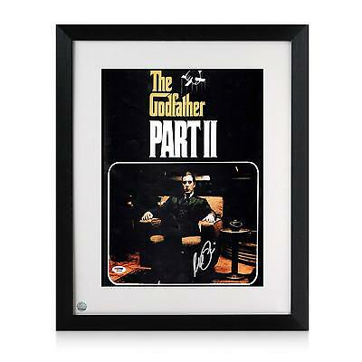 Al Pacino Signed And Framed Godfather 2 Film Poster Movie Memorabilia