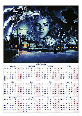 A Nightmare on Elm Street V2 - 2017 A4 CALENDAR *BUY ANY 1 AND GET 1 FREE OFFER*