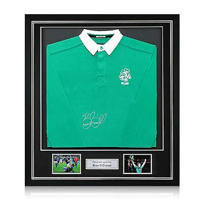Brian O'Driscoll Signed Framed Ireland Rugby Shirt Autographed Memorabilia