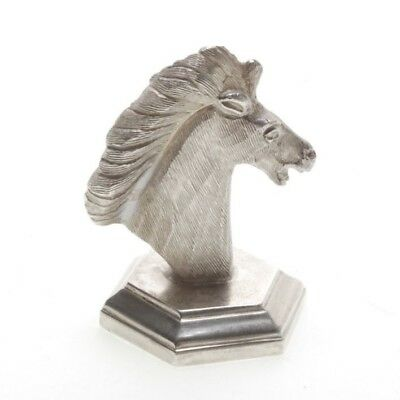 Vintage Horse Head Figurine/ Paperweight Marked Silver