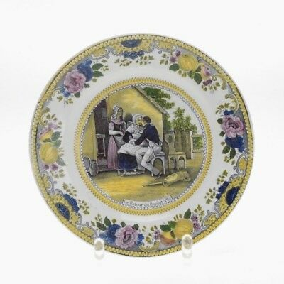 "ANTIQUE CHOISY PLATE ""THE RETURN OF THE SOLDIER No. 14"""