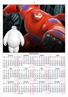 Big Hero 6 V2 - 2017 A4 CALENDAR **BUY ANY 1 AND GET 1 FREE OFFER**