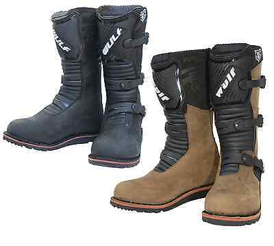 Wulfsport Adults Mens Brown/ Black Motorcycle Motor Bike Trials Offroad Boots