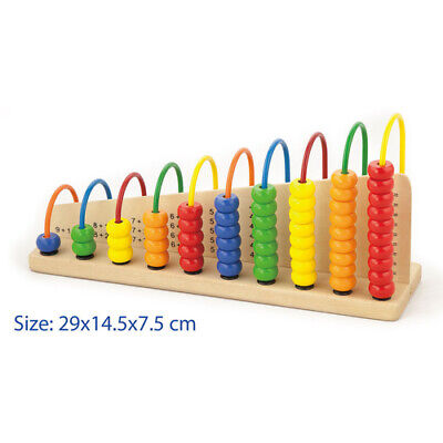 Learning MATHS Wooden ABACUS WIRE & BEADS COUNTING, ADDITION SUBTRACTION Frame