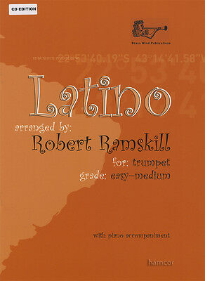 Latino for Trumpet with Piano Accompaniment Sheet Music Book/CD Latin American