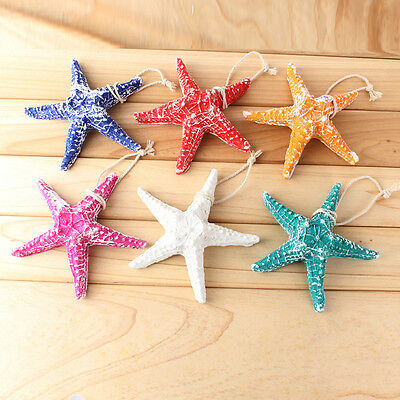 Resin Hanging Starfish Tropical wedding Ornament Ocean Sea Shell Home Wall Decor
