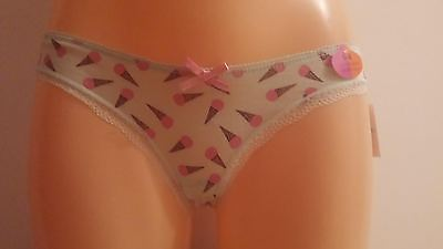Cute Girls Green Ice Creams Briefs Knickers 6-8 Christmas gift