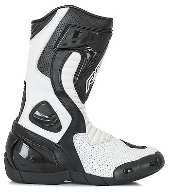 RST R-16 White Boots 1063 Size EU 43 (UK 9)    **PRICE £99.99**