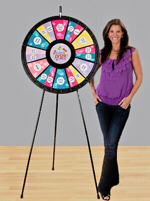 12 - 24 Slot Black Adaptable Floor Stand Prize Wheel