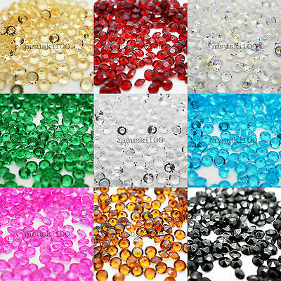 500 Confetti Diamond Shape 6.5mm 1ct Tabletop Crystal Gems Acrylic Bead Party