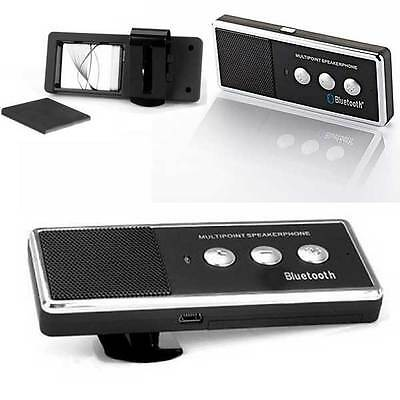 Kit Vivavoce Speaker Auto Bluetooth Universale Per Smartphone Tablet Cellulare