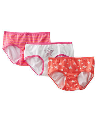 OshKosh Girls' 3-Pack Stretch Cotton Panties Size 2 Brand New In Pack