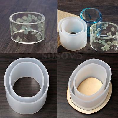 Clear Round Silicone Mould Casting DIY Bangle Cuff Bracelet Jewelry Making 52/48