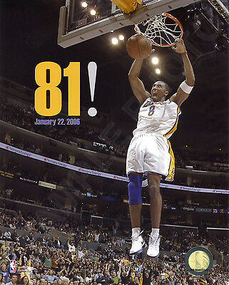 Kobe Bryant - LA Los Angeles Lakers 81 Point Game (1/22/06) 8x10 Licensed Photo