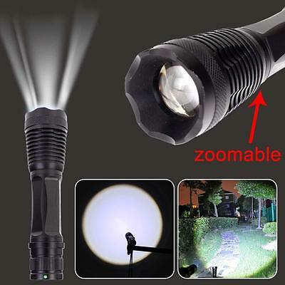 3000LM LED CREE T6 zoomables Lampes de poche 18650 Chasse focus Lampe torche  DD