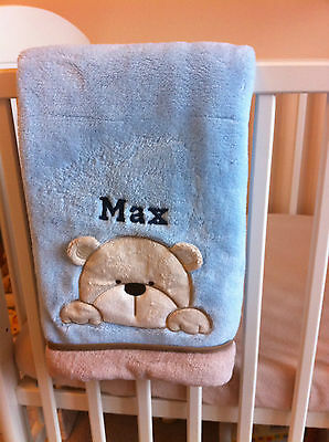 Personalised Deluxe Teddy/ Rabbit/ Cat Baby Blanket. Luxurious wrap Unique Gift