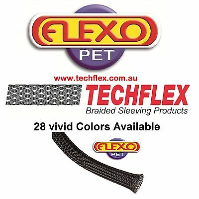 9.5mm x 3m Length - Techflex Flexo PET Expandable Braided Cable Sleeve