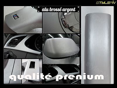 film vinyle covering alu brossé gris argent 150 x 30 cm thermoformable adhesif