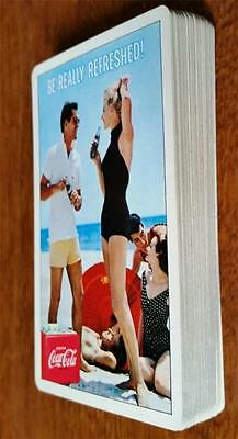 1959 Drink Coca-Cola, At Beach Playing Cards. BE REALLY REFRESHED! No Box