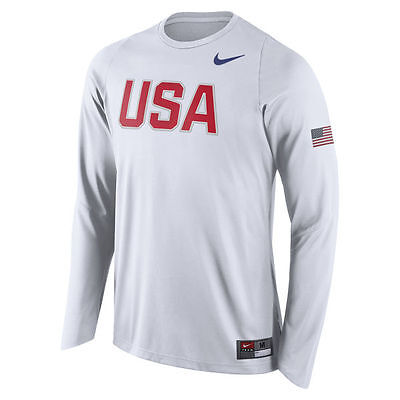 Limited Edition Nike 2016 Rio Olympic Team USA Player Long Sleeve Shooter Shirt