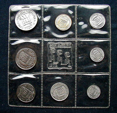 1973 SAN MARINO (Italy) complete set coins with silver UNC