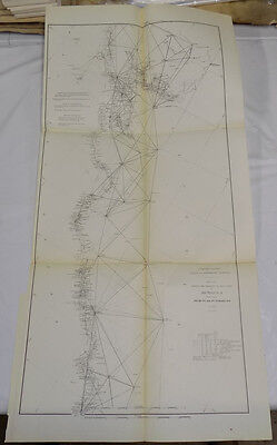 1890 Coast & Geodetic Survey Map /// CALIFORNIA COAST, POINT SAL TO TOMALES BAY
