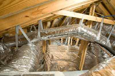 "500 sqft Reflective Radiant Barrier Attic Foil Insulation 16"" perforated Joists"