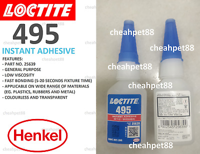 LOCTITE 495 20G Brand new Instantaneous dry glue - 2 Bottles - Free Shipping