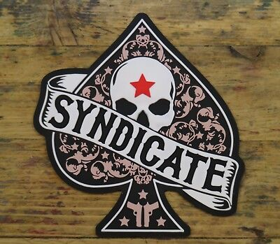 Syndicate Brotherhood of power, PVC morale patch contact tape hook and loop