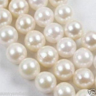 6-7mm White A+++ Saltwater Akoya Pearl Round Loose Beads 14""