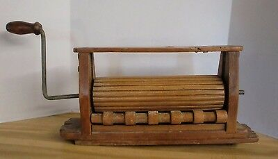 Antique Wooden Wringer Hand Crank
