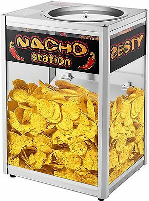 Commercial Grade Counter Top Nacho Chip Warming Station Tortilla Chips Server