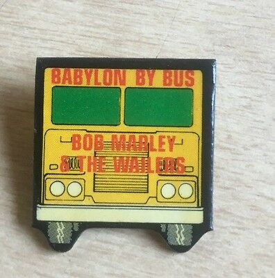Bob Marley & The Wailers Babylon By Bus Figural Promo Only Pinback