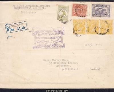 Australia 1931 (Apr) First Official Air Mail Flight Cover Melbourne to London