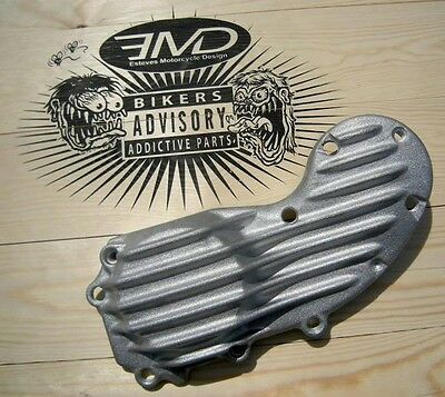 Emd Ribster Natural Raw Ribbed Finned Cam Cover For Harley Sportster Xl 1991-14