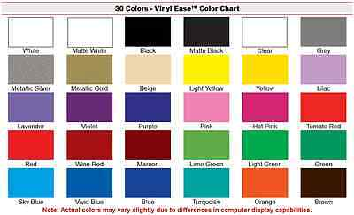 30 Sheets 12 in x 12 in Permanent Craft Vinyl for Cricut UPick from 30 Clr V0101