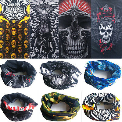 Halloween Skull Tube Scarf Bandana Head Face Mask Neck Gaiter Snood Headwear