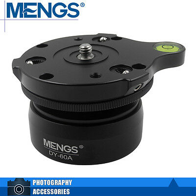MENGS DY-60A Professional Tripod Leveling Base For Ball Diameter 60mm
