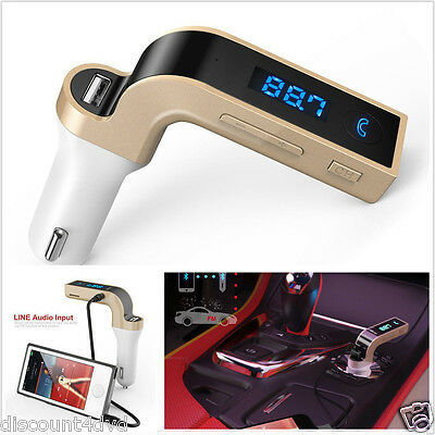 Wireless Bluetooth FM Transmitter Handsfree MP3 Player Radio Car Kit Charger HTC