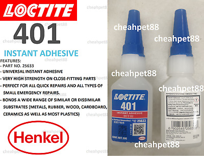 LOCTITE 401 20G Instant Adhesive, Surface Insensitive- 2 Bottles