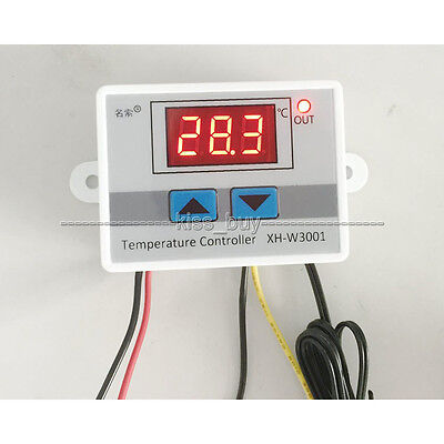 12V 220V Digital LED Temperature Controller 10A Thermostat Control Switch Probe
