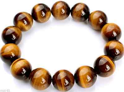 8/10/12/20MM Natural Tiger's Eye Stone Gemstone Beads Jewelry Bracelet  7.5''AAA
