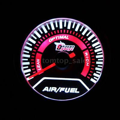 "2"" 52mm Automobile Car Air/Fuel Ratio Gauge Meter White LED Display 10-15V T5Z8"