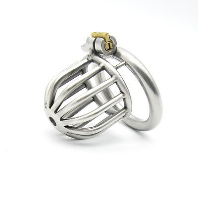 New lock 304 stainless steel Cock Cage Chastity Device A259