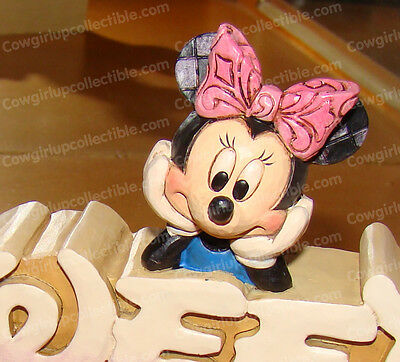 Minnie Mouse SWEET Plaque (4032897) Disney Traditions by Jim Shore