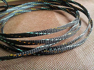 hifi audio Cable Sleeving High Density Braided 5mm Expandable Sleeve