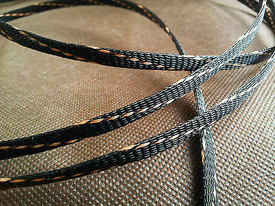 hifi audio Cable Sleeving High Density Braided 6mm Diameter Expandable Sleeve