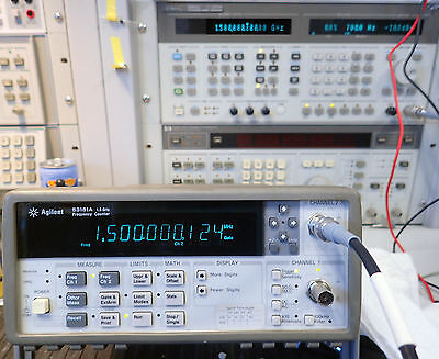 HP / AGILENT 53181A 1.5GHz RF FREQUENCY COUNTER w/ 30 DAY RIGHT OF RETURN