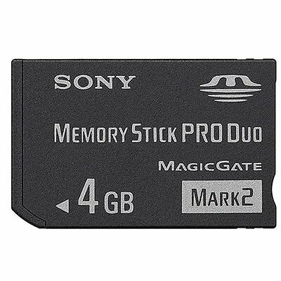 * PSP & Digital Camera OFFICIAL SONY 4GB MAGIC GATE PRO DUO MEMORY CARD NEW