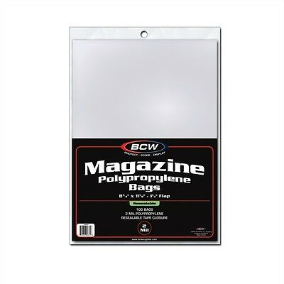 Magazine Storage Bags, Resealable x 100 pack